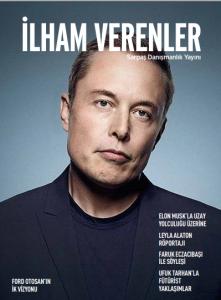 Dergi kapağındaki adam bakıyor
